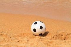 Beach. A football on the Beach stock image