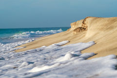 Beach. Sea waves gradually shaping of turkish beach shore Royalty Free Stock Image