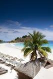 The beach. With blue sky Stock Photos