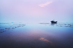 The beach. On the fishermen's hope Royalty Free Stock Image