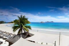 The beach. With blue sky Stock Photo