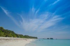 Beach. Natural beautiful Island, lagoon and blue sky Stock Image