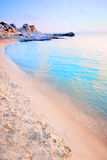 Beach. Beautiful Mediterranean beach in Chalkidiki, Greece...taken at sunrise Royalty Free Stock Images