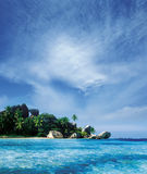 Beach. La Digue island, Seychelles royalty free stock photography