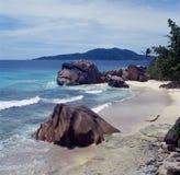 Beach. La digue island, seychelles Royalty Free Stock Photos