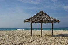 Beach. Nitsanim beach - Israel Royalty Free Stock Photos