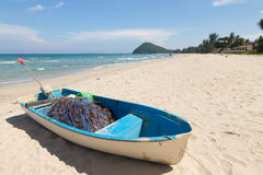 Beach. Boat on the beach in Thailand Stock Photo