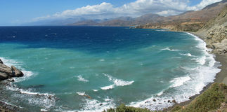 The beach. A great beach in crete royalty free stock images