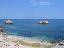 Beach. And sea in Bulgaria stock photos