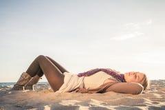 On beach Stock Image