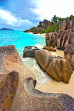 Beach. The best beach on island LaDigue on Seychelles Stock Photography