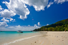 Beach. A dream beach on Seychellen Royalty Free Stock Photos