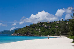 Beach. The beach at the Mahe island, Seychelles stock photo