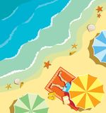 Beach royalty free illustration