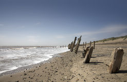 Beach. Scene at Spurn Point, East Yorkshire, UK stock image
