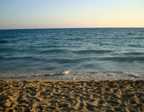 Beach. Beautiful sand beach in Palma de Mallorca, Spain royalty free stock image