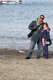 At the Beach. Father daughter at the beach stock images