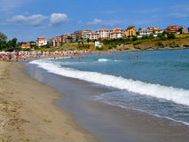 Beach. And sea in Bulgaria stock photo