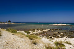 Beach. Scenic beach in Novalja on island Pag, Croatia Royalty Free Stock Photography