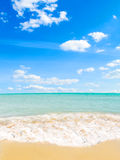 Beach. Golden beach and sky (abstract photo Stock Images