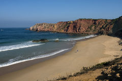 Beach. On the Eastern Atlantic coast of Portugal Royalty Free Stock Photography
