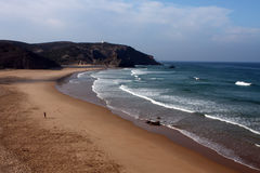 Beach. On the Eastern Atlantic coast of Portugal Stock Images