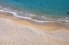 The beach. Beautiful white beach in Crete island Stock Images