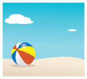 Beach. With  ball in the sand Stock Photo