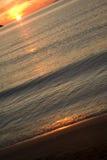 Beach. The wave runs on sandy coast Royalty Free Stock Photography