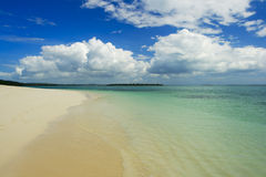 Beach. Sand beach on northern coast of Zanzibar island Royalty Free Stock Photography