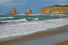 Beach. In the south west of France (Hendaye Stock Photo