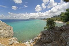 Beach. Of Lefkada at the Island of Lefkas,Greece Stock Photography