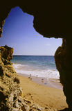 Beach. In the Algarve, Golden  Portugal Royalty Free Stock Images