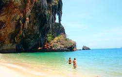 Beach. Thailand beach paradise, in Krabi stock images