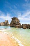 Beach. Arrifes beach near Albufeira in Algarve, Portugal Stock Photo