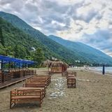 Beach in Abkhazia Stock Image