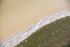 The beach from above Royalty Free Stock Images