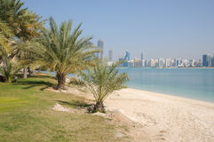 Beach in Abu Dhabi Royalty Free Stock Images