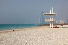 Beach in Abu Dhabi Stock Image