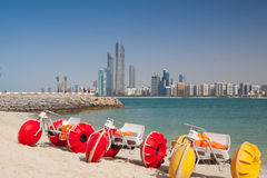 On the beach in Abu Dhabi, United Arab Emirates Royalty Free Stock Images