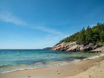 Beach in Acadia National Park. royalty free stock images