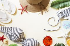 Beach accesories royalty free stock photography