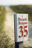 Beach access Stock Photos