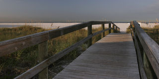 Beach Access. Walkway to Madeira Beach Florida Royalty Free Stock Photography