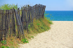 Beach access, Atlantic Ocean Royalty Free Stock Photos