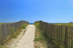 Beach access, Atlantic Ocean Royalty Free Stock Photography