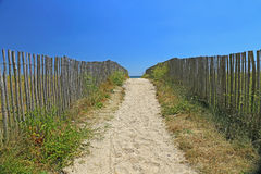 Beach access, Atlantic Ocean Stock Photo
