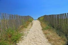 Beach access, Atlantic Ocean Stock Photo