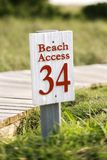 Beach access on Bald Head Island, North Carolina. royalty free stock images