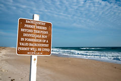 Beach Access at Canaveral National Seashore Stock Image
